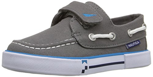Image of the Nautica Little River 2 Canvas Velcro Boat Shoe (Toddler/Little Kid), Storm Grey, 6 M US Toddler