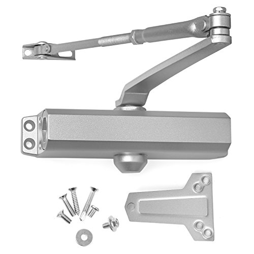 Door Closer Grade 2 Medium Duty, Surface Mounted, Cast Aluminum, for Residential and Light Commercial Applications doorways (Aluminum (AL)) by Lawrence Hardware LH534 ()