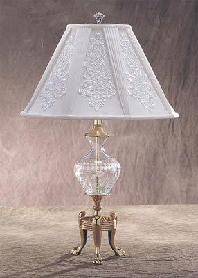 31 inch crystal glass with brass table lamp amazoncom for 6 inch table lamp