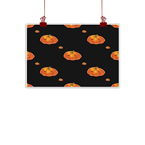 Mannwarehouse Modern Frameless Painting Halloween Background with Pumpkins Bedroom Bedside Painting 35