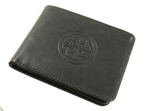 Biddy Murphy Irish Leather Wallet Celtic Knot Black Made in Ireland