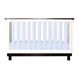 Pure Safety Vertical Crib Liners in Chalk Blue Cotton 38 Pack