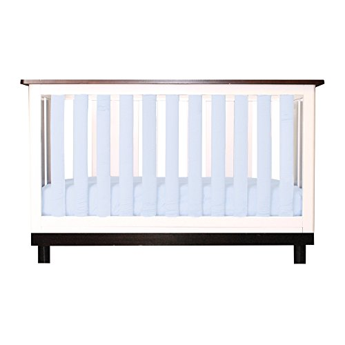 Go Mama Go 24 Piece Pure Safety Vertical Crib Liners, Chalk Blue Cotton by Go Mama Go