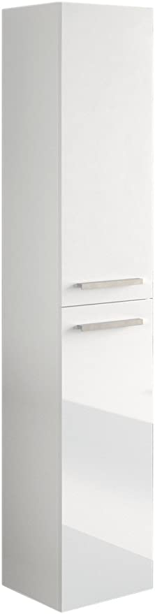 Miroytengo Columna Aseo baño para Lavabo suspendida en Color Blanco Brillo con Tiradores y 2 Puertas diseño Actual 30x25x150 cm: Amazon.es: Juguetes y juegos