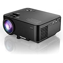 """TENKER Upgrade +10% Lumens 4.0"""" LCD Mini Projector, Portable Home Theater Projector 170"""" Display, Support 1080P HDMI USB SD Card AV VGA for TV Laptop Game Smartphone Includes HDMI Cable"""