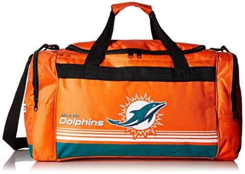 Miami Dolphins Medium Striped Core Duffle Bag