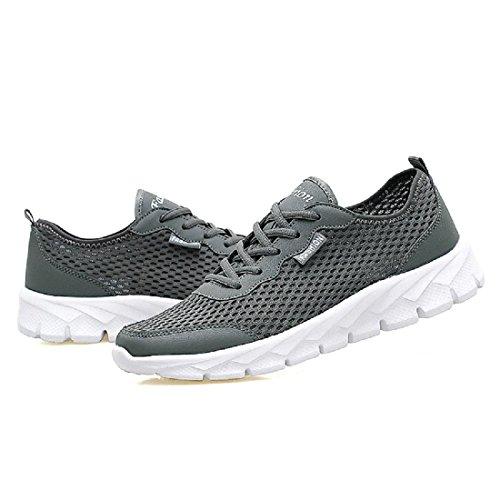 Hombres Verano Zapatos deportivos Talla grande Moda Respirable Zapatos para correr Zapatos de ocio gray