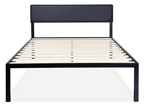 Olee Sleep Heavy Duty 18 Inch Platform 4000HB Metal Bed Frame/Mattress Foundation with Headboard King 18BF11K