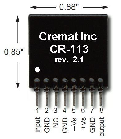 CR-113-R2.1 Charge Sensitive preamplifier Module