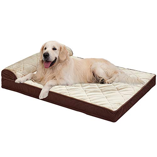Auboa Large Dog Bed for Small, Medium, Large Dogs/Cats Mat Two Styles Removable and Washable Cover, Orthopedic Memory…