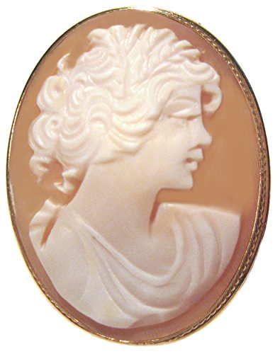 Cameo Brooch 18k (Cameo Brooch Pendant Master Carved Sardonyx Shell Sterling Silver Italian 18k Gold Overlay)