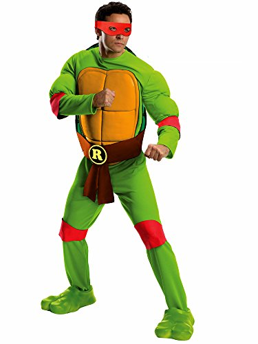 (Rubie's Men's Teenage Mutant Ninja Turtles Deluxe Adult Muscle Chest Raphael, Green,)
