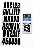 """Hardline Products BLK350EC Solid Black Letter/Number KT 3"""""""