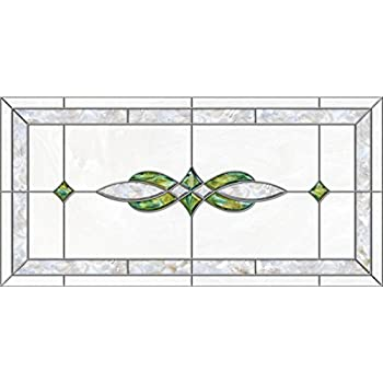 decorative fluorescent light covers stained glass 11 green pearl 47 34