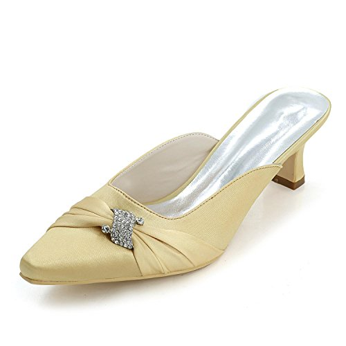 Yc Pantofole Il Personalizzato L Oro Libero Sottolineato Tacchi Matrimonio Ha Punta Esposto Platform Tempo Alti Donne 0723 Per 15b qAFBn5F