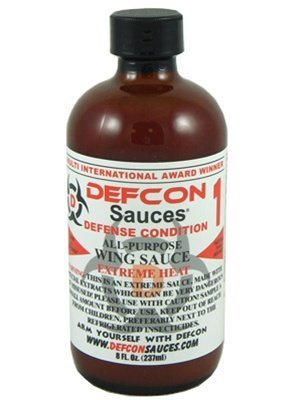 Defcon 1 Extreme Heat All-Purpose Wing Sauce, 8oz.