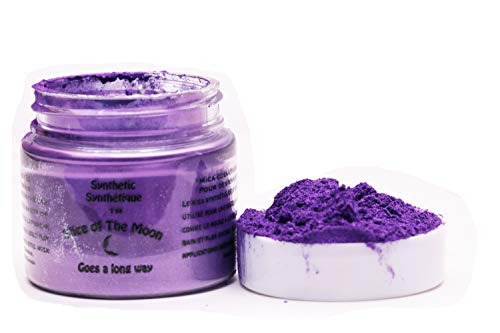 Slice of the Moon: Purple Synthetic Mica Powder 15g, Synthetic Mica, Cosmetic Grade for Lipstick Lip Gloss Bath Bombs Epoxy Resin Face Blush Powder Eye Pencil Dye Pigments Candle Making