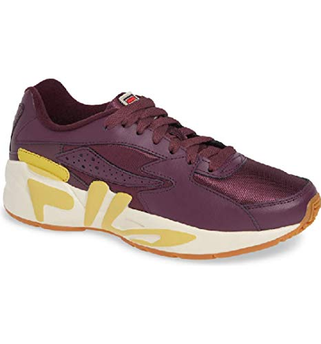 Fila Womens Mindblower Fabric Low Top Lace Up Walking Shoes, Red, Size 7.0