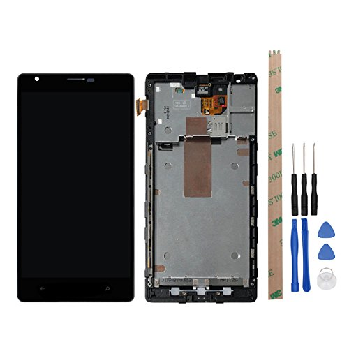 HYYT Replacement For Nokia Lumia 1520 LCD Digitizer Screen LCD Display and Touch Screen with Frame Full Assembly and - Replacement 1520