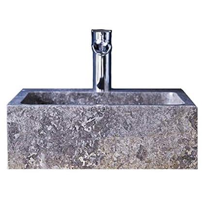 Lavabo da bagno in ardesia massiccia quadrata, lavabo in ...