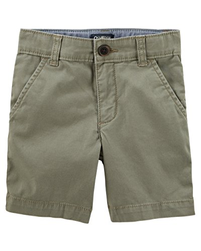(Osh Kosh Boys' Toddler Stretch Flat Front Short, Olive, 4T)