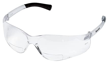 38454b49b4 Crews BKH15 BearKat Magnifier Polycarbonate 1.5 Diopter Clear Lens Safety  Glasses with Non-Slip Hybrid