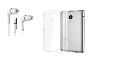 buy popular 1229f 69e33 KTC Plus Soft Silicon TPU Transparent Back Cover and Handsfree for Vivo  Y21/ Vivo Y21L