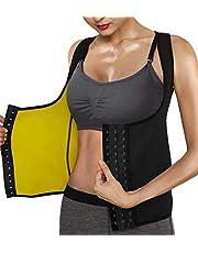 Roseate Vrouwen Body Shaper Hot Zweet Workout Tank Top Afslanken Vest Sauna Shirt Neopreen Compressie Shapewear Geen Rits