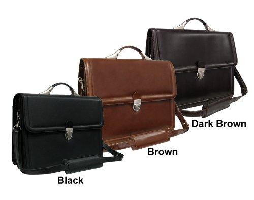 AmeriLeather APC Savvy Leather Executive Briefcase - Apc Case Leather