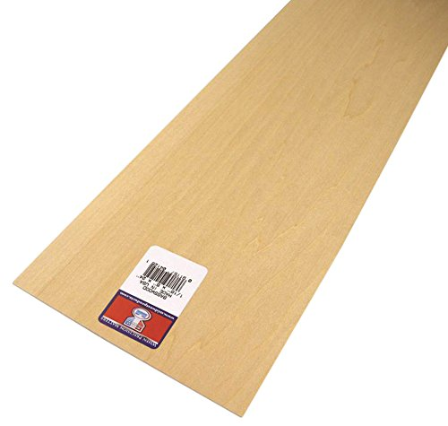 Midwest Products 4125  Basswood Sheet 24x6x1/16 Inch ( Pack of 10)