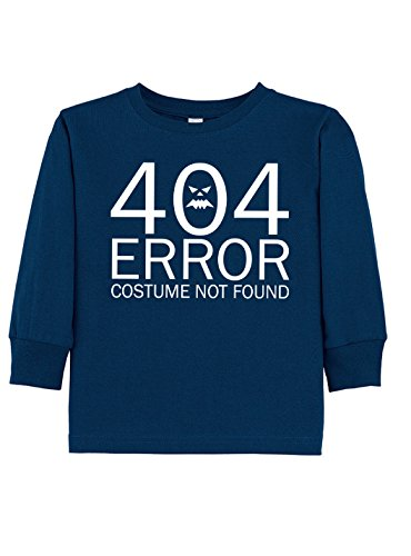 Dancing Participle Girl's Toddler 404 Error Costume Not Found Long Sleeve T-Shirt, 4T, (Nerdy Toddler Halloween Costumes)