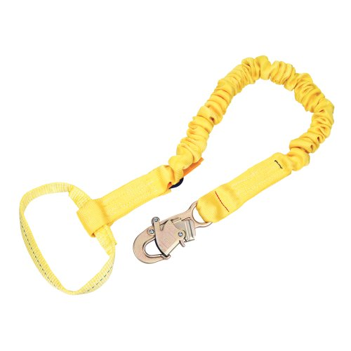 Shockwave2 Shock Absorbing Lanyard - 3M DBI-SALA,ShockWave2 1244310 Shock Absorbing Lanyard, 6' Single-Leg with Elastic Web with Snap Hook At One End, Web Loop Choker At Other End, Yellow