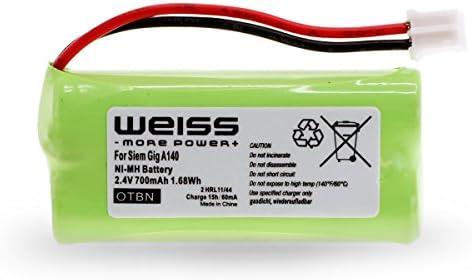 Batería Weiss para Siemens Gigaset A12, A120, A14, A140, AS140, AL4H, A145, AS15, A160, A165, A240,