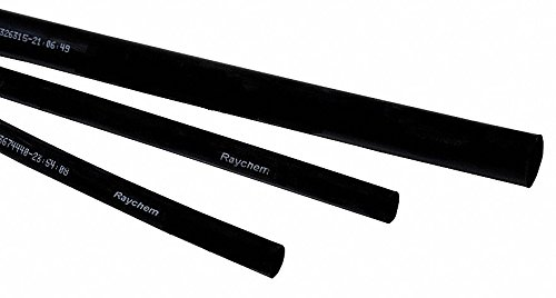 Raychem 4 ft. Thin Wall Heat Shrink Tubing, Flexible Polyolefin, Shrink Ratio 2:1-1 Each