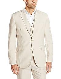 Cubavera Men's Easy Care Linen Blend Jacket