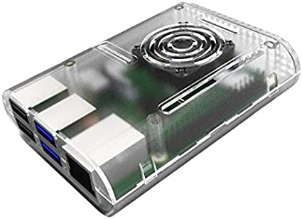 Generic Case with Cooling Fan Heatsinks Installable for Raspberry Pi 4B Black 92x70x29mm