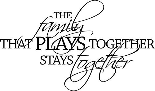 Top Selling Decals - Prices Reduced : Families That Play Together Stay Together - Color=As Seen - Size=16