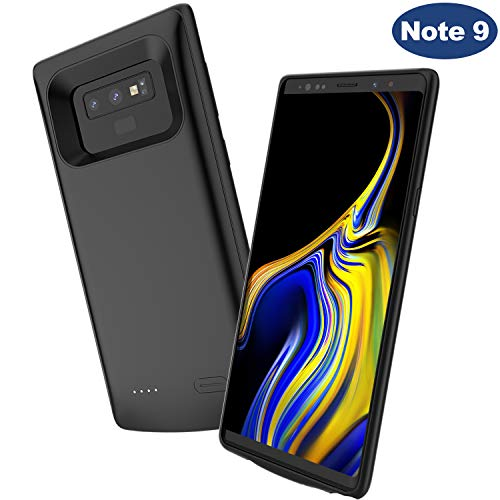Note 9 Battery Case,Elebase Portable External Rechargeable Power Charger Case,5000mAh Protective Backup Charging Case Pack with Raised Edge for Samsung Galaxy Note 9(Black)