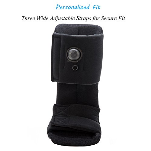Plantar Fasciitis Night Splint, Adjustable Soft Medical Pneumatic Brace Boot for Pain Relief Black Large by Kefit (Image #3)