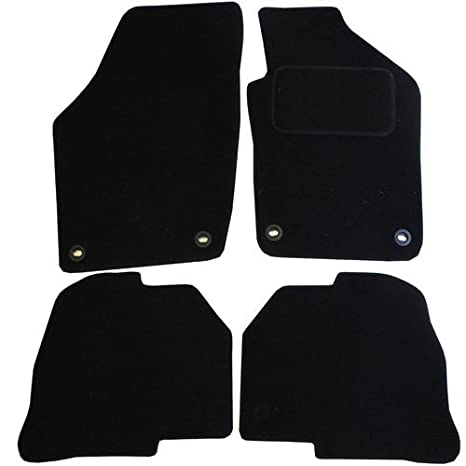 JVL Fully Tailored Rubber Car Mat Set with 4 Clips - 4 Pieces, Black 1363R