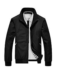 Winwinus Men Outwear Zipper Simple Trucker Fall Winter Jacket Long Sleeve