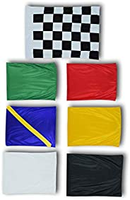 """Cuircon Race Car Event Racing Flags Set 30"""" by 25"""" Go Karting Circuit Outdoor Set"""