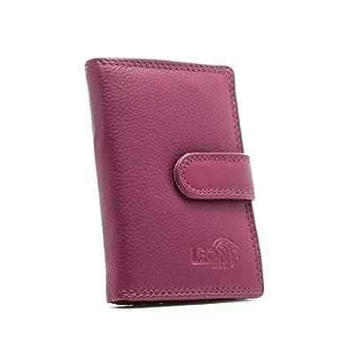 63639b77935 LeonDesign - 16-CC1506-05 - fuchsia - mapje voor pasjes - leer: Amazon.de:  Schuhe & Handtaschen