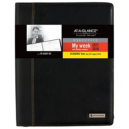 AT-A-GLANCE Academic Weekly / Monthly Appointment Book / Planner, July 2017 - August 2018, 8-1/4