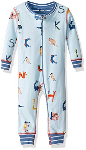 Hatley Baby Boys Organic Cotton Sleepers, Alphabet Animals, 18-24 Months