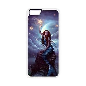 Diy Mermaid Phone Case for iphone 6 Plus (5.5 inch) White Shell Phone JFLIFE(TM) [Pattern-3]