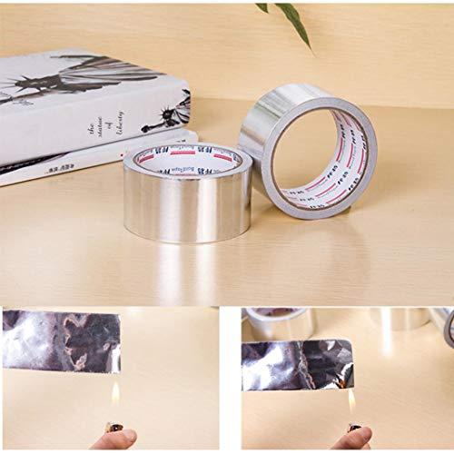 LiPing 50MM X 10M Household Heat-Resistant Waterproof Aluminum Foil Tape Repair Kitchen Cooker Plate Deflector Plate Insulation Sheet Cook Kitchen Tool (A)