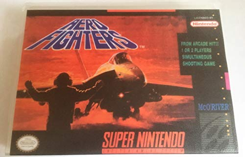 Aero Fighters (Super Nintendo, SNES) - Reproduction Video Game Cartridge with Universal Game Case and Glossy Manual