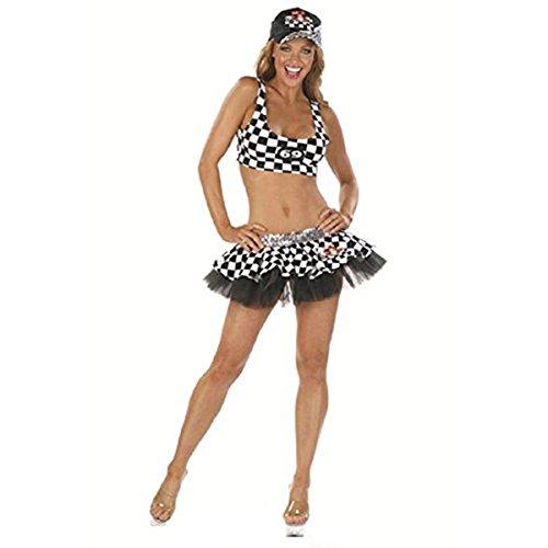 [Racer Girl Costume] (Girl Racer Halloween Costume)
