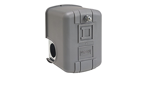 2-Way Release Valve 100 psi Set Off Square D by Schneider Electric 9013FHG9J27X Air-Compressor Pressure Switch 1//4 NPT External 20 psi Fixed Differential